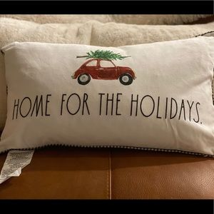 Rae Dunn Holiday Pillow Home for the Holidays